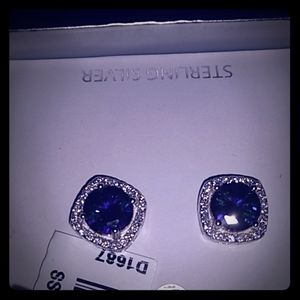Sterling Silver Earrings with Mystic CZ